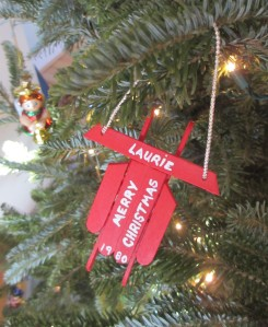 Sled ornament from my childhood.